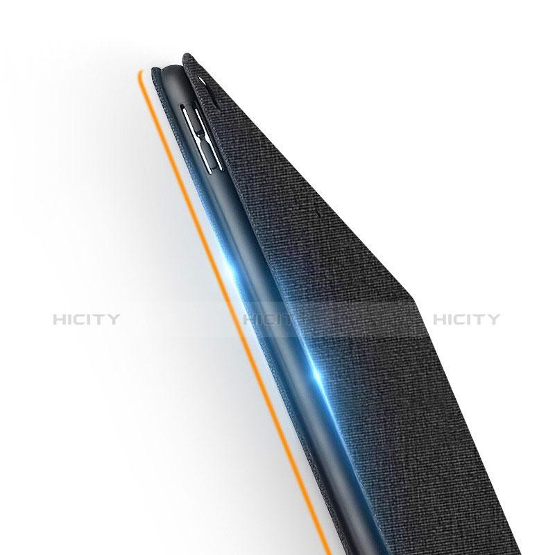 Coque Clapet Portefeuille Livre Tissu pour Apple iPad New Air (2019) 10.5 Noir Plus