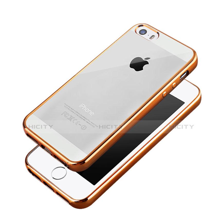 coque contour luxe aluminum metal pour apple iphone 5s orange 6223 plus 3
