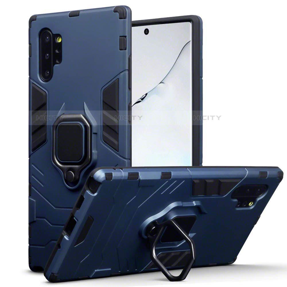 Coque Contour Silicone et Plastique Housse Etui Mat avec Magnetique Support A03 pour Samsung Galaxy Note 10 Plus 5G Plus