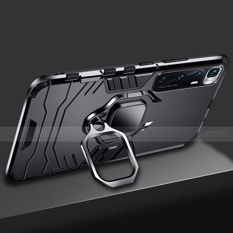 Coque Contour Silicone et Plastique Housse Etui Mat avec Magnetique Support Bague Anneau S01 pour Xiaomi Mi 10 Ultra Plus