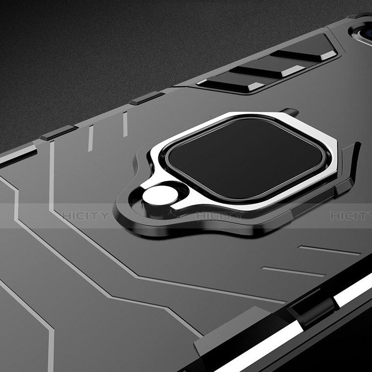 Coque Contour Silicone et Plastique Housse Etui Mat avec Magnetique Support pour Huawei Honor 20 Lite Plus