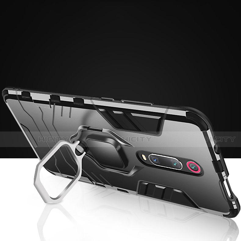 Coque Contour Silicone et Plastique Housse Etui Mat avec Magnetique Support pour Xiaomi Mi 9T Plus