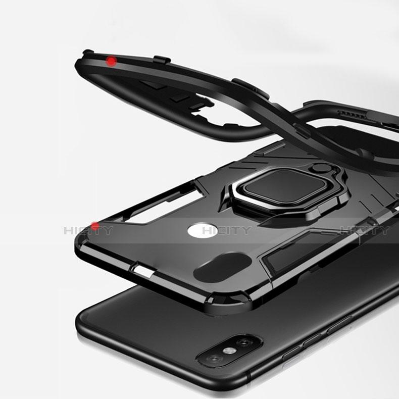 Coque Contour Silicone et Plastique Housse Etui Mat avec Magnetique Support pour Xiaomi Mi A2 Plus