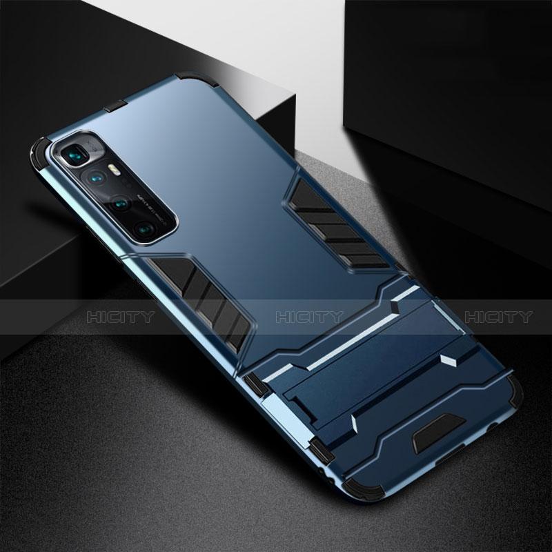 Coque Contour Silicone et Plastique Housse Etui Mat avec Support A01 pour Xiaomi Mi 10 Ultra Bleu Plus