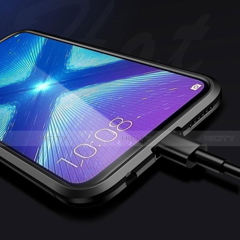 Coque Contour Silicone et Plastique Housse Etui Mat avec Support pour Huawei Honor 8X Plus