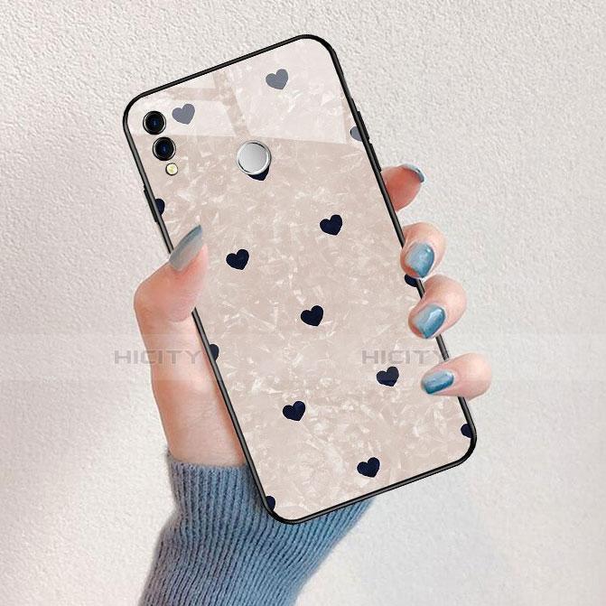 Coque Contour Silicone et Vitre Amour Coeur Miroir pour Huawei Honor 8X Noir Plus