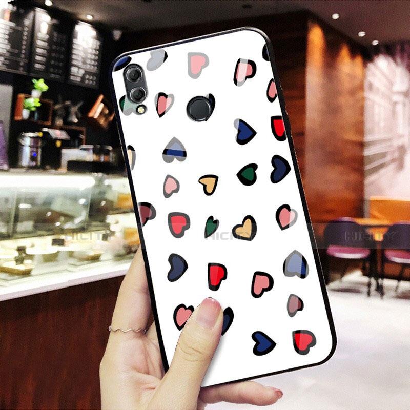 Coque Contour Silicone et Vitre Amour Coeur Miroir S01 pour Huawei Honor 8X Mixte Plus