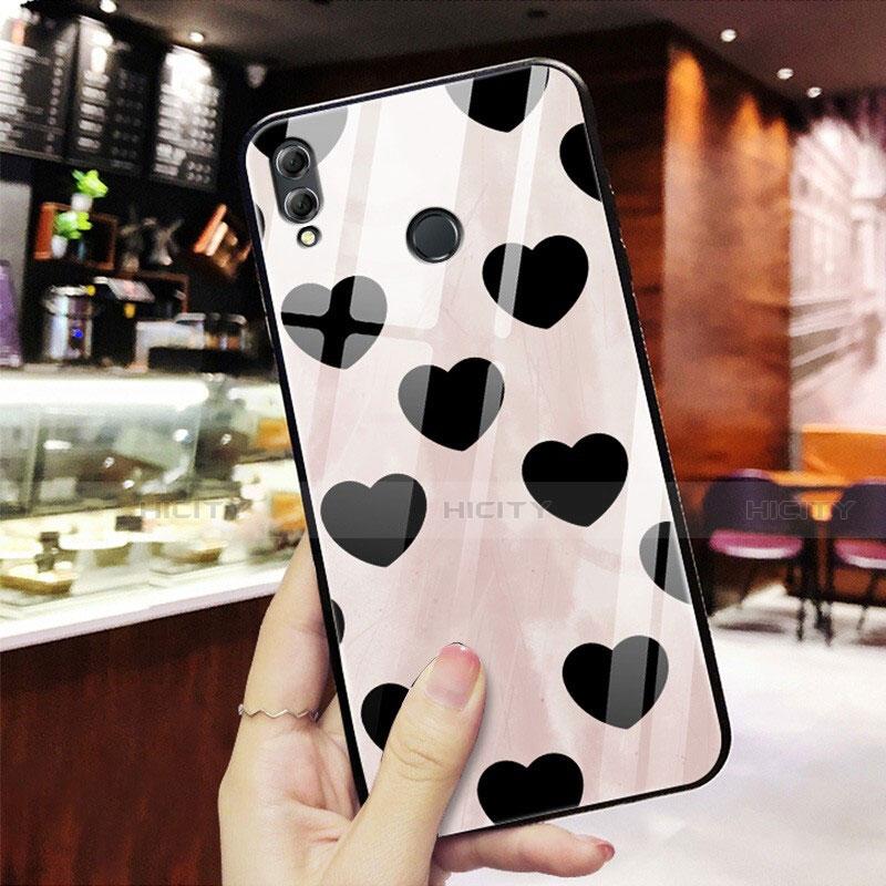 Coque Contour Silicone et Vitre Amour Coeur Miroir S03 pour Huawei Honor 8X Rouge Plus