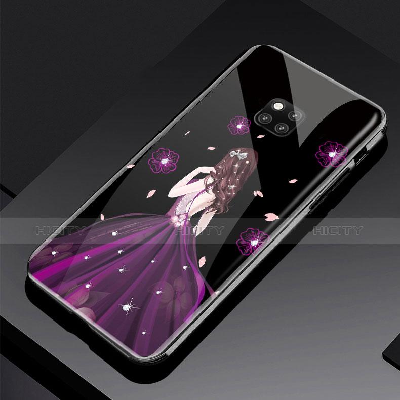 Coque Contour Silicone et Vitre Dos de Fille Miroir Etui Housse pour Huawei Mate 20 Pro Plus
