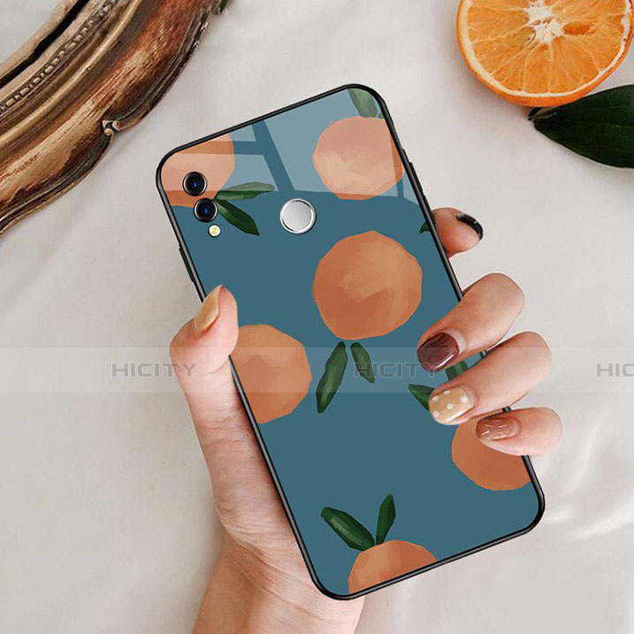 Coque Contour Silicone et Vitre Fruit Miroir pour Huawei Honor 8X Bleu Plus