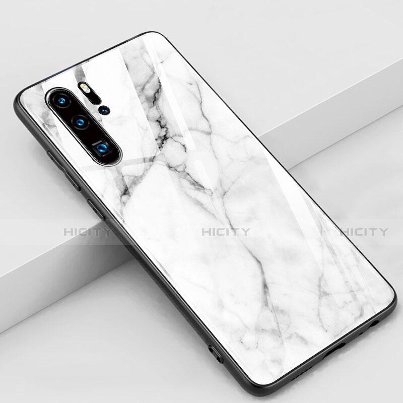 Coque Contour Silicone et Vitre Motif Fantaisie Miroir Etui Housse K03 pour Huawei P30 Pro Plus