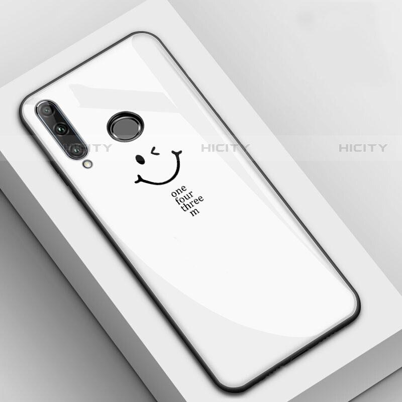 Coque Contour Silicone et Vitre Motif Fantaisie Miroir Etui Housse pour Huawei Honor 20 Lite Blanc Plus