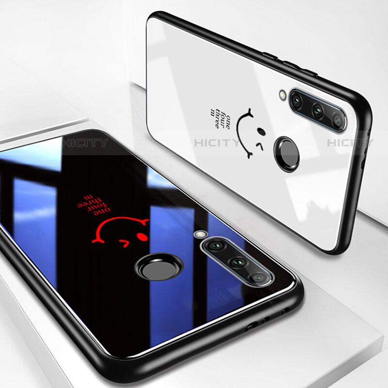 Coque Contour Silicone et Vitre Motif Fantaisie Miroir Etui Housse pour Huawei Honor 20 Lite Plus