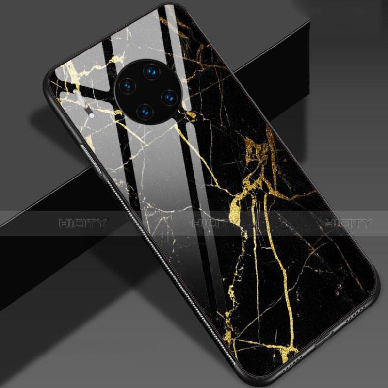 Coque Contour Silicone et Vitre Motif Fantaisie Miroir Etui Housse S01 pour Huawei Mate 30 5G Or Plus