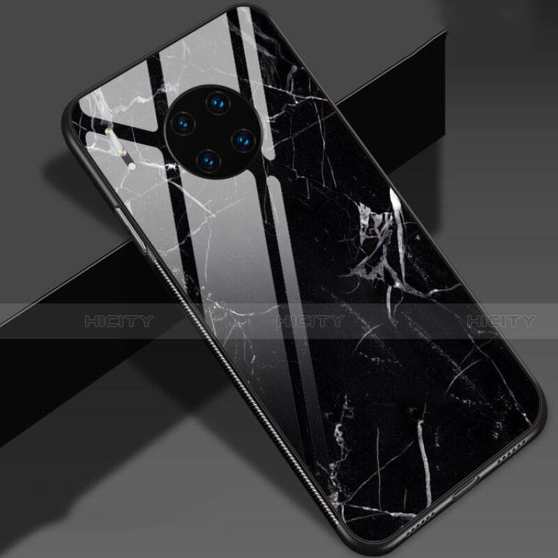 Coque Contour Silicone et Vitre Motif Fantaisie Miroir Etui Housse S01 pour Huawei Mate 30 5G Plus