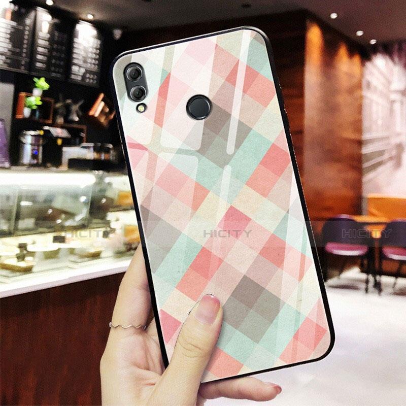 Coque Contour Silicone et Vitre Motif Fantaisie Miroir pour Huawei Honor 8X Mixte Plus