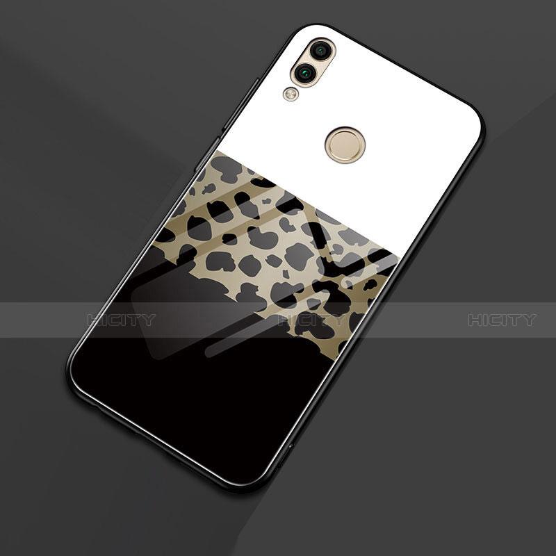 Coque Contour Silicone et Vitre Motif Fantaisie Miroir pour Huawei Honor 8X Noir Plus