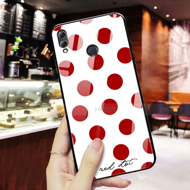 Coque Contour Silicone et Vitre Motif Fantaisie Miroir pour Huawei Honor 8X Rouge Plus