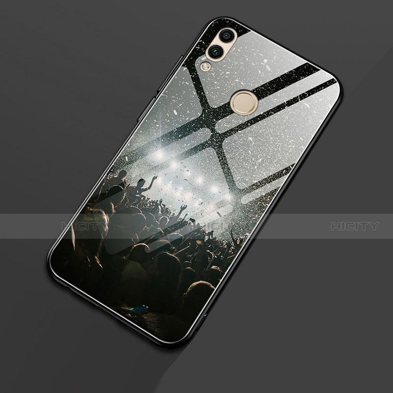 Coque Contour Silicone et Vitre Motif Fantaisie Miroir S01 pour Huawei Honor 8X Noir Plus