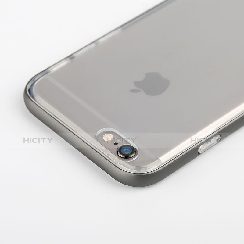 coque contour silicone transparente gel pour apple iphone 6s gris 6727 plus 2