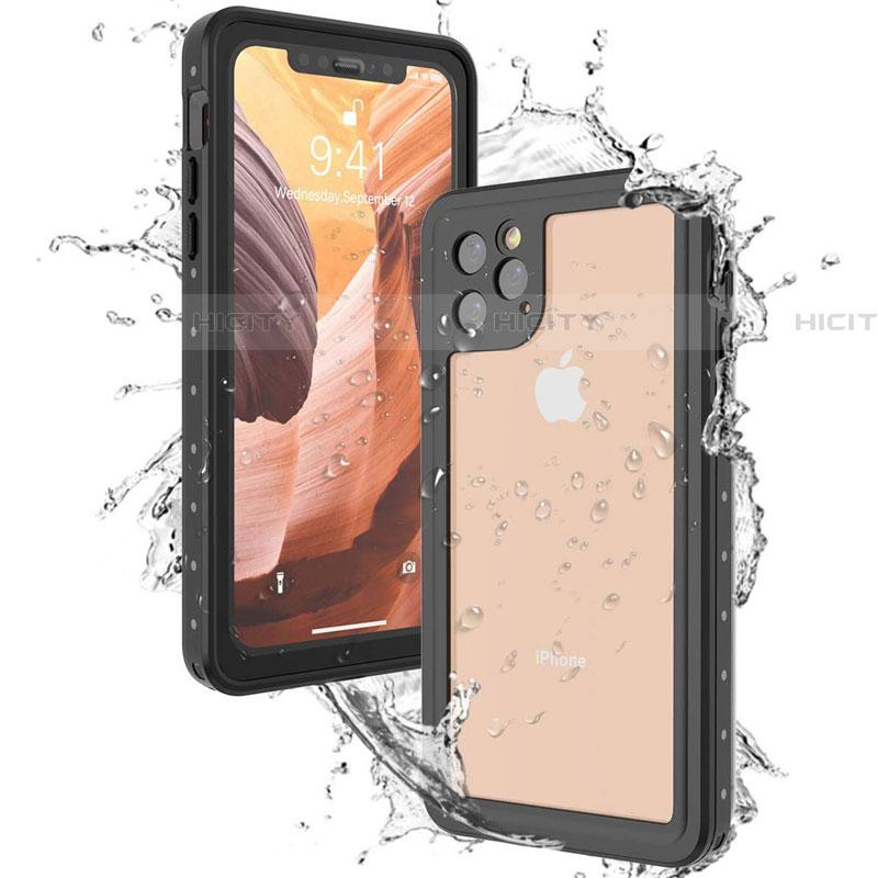 Coque Etanche Contour Silicone et Plastique Housse Etui Waterproof 360 Degres U01 pour Apple iPhone 11 Pro Max Noir Plus