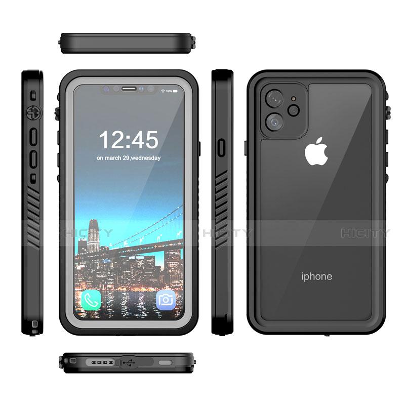 Coque Etanche Contour Silicone et Plastique Housse Etui Waterproof 360 Degres W01 pour Apple iPhone 11 Noir Plus
