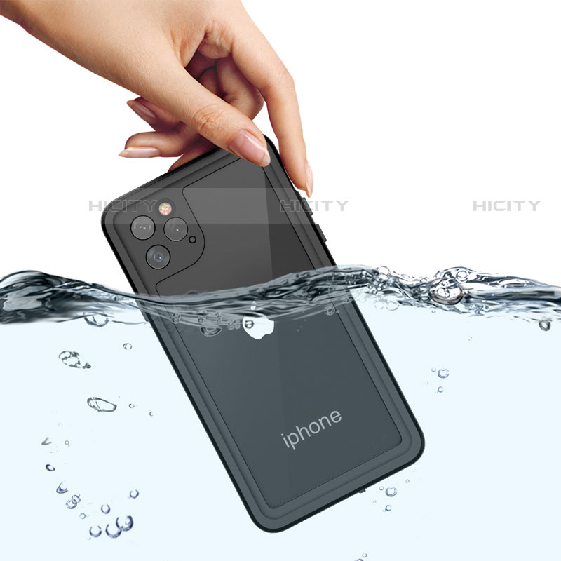 Coque Etanche Contour Silicone et Plastique Housse Etui Waterproof 360 Degres W01 pour Apple iPhone 11 Pro Max Noir Plus