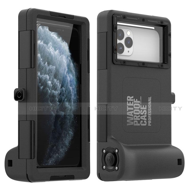 Coque Etanche Contour Silicone Housse et Plastique Etui Waterproof 360 Degres pour Apple iPhone 11 Pro Max Noir Plus