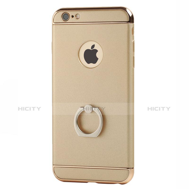 Coque Luxe Aluminum Metal et Support Bague Anneau pour Apple iPhone 6S Or Plus