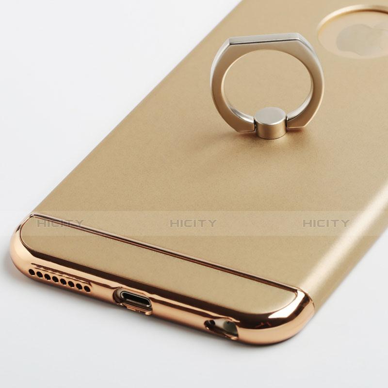 coque luxe aluminum metal et support bague anneau pour apple iphone 6s plus or 6841 plus 5
