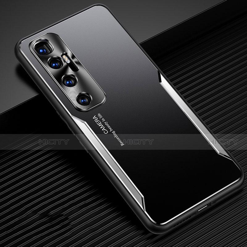 Coque Luxe Aluminum Metal Housse Etui M01 pour Xiaomi Mi 10 Ultra Argent Plus