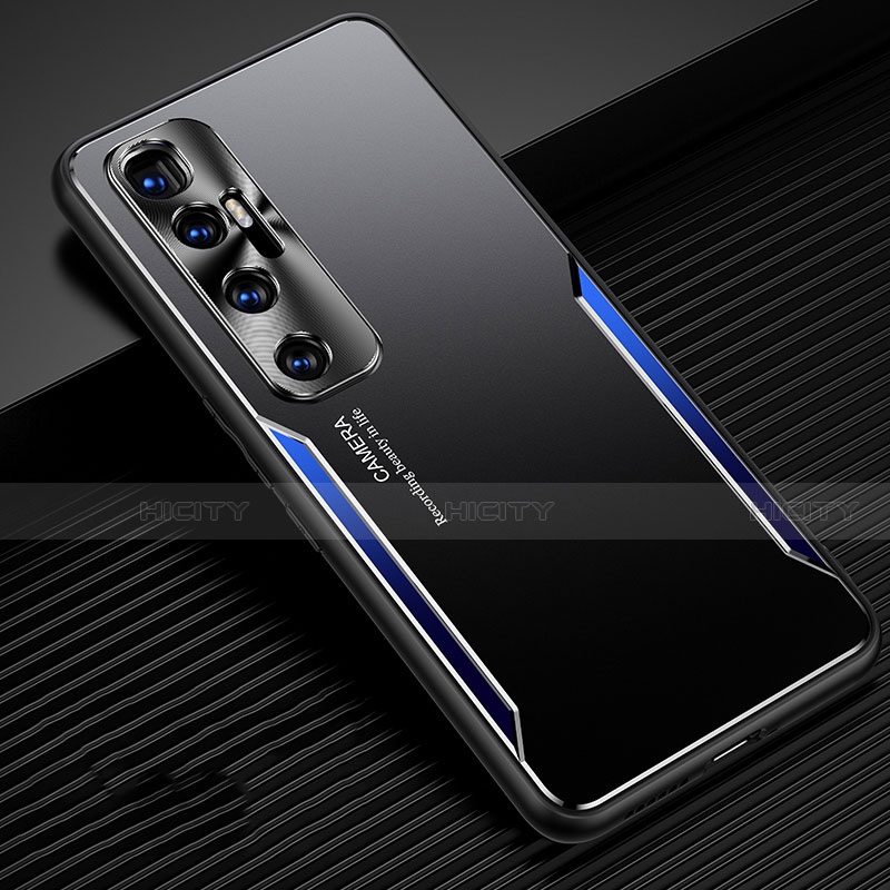 Coque Luxe Aluminum Metal Housse Etui M01 pour Xiaomi Mi 10 Ultra Bleu Plus