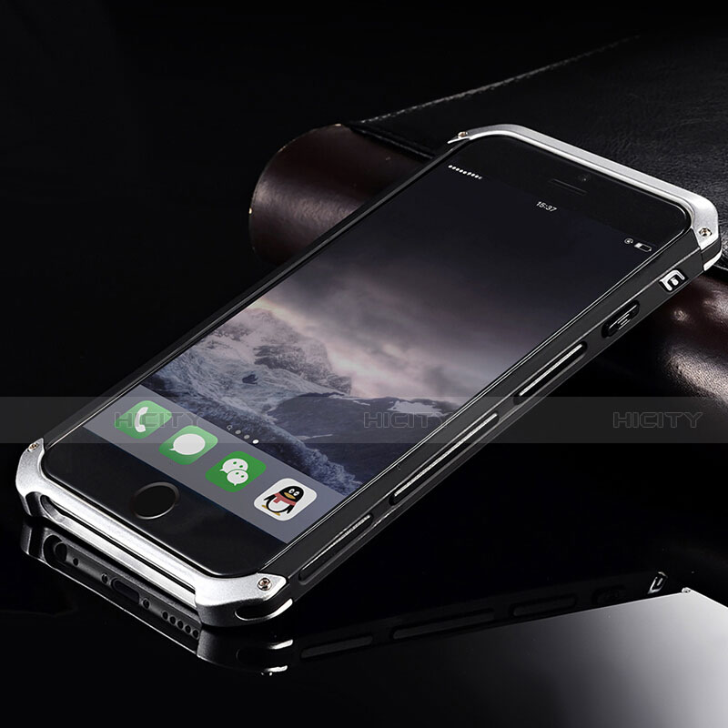 Coque Luxe Aluminum Metal Housse Etui pour Apple iPhone 6 Plus Bleu