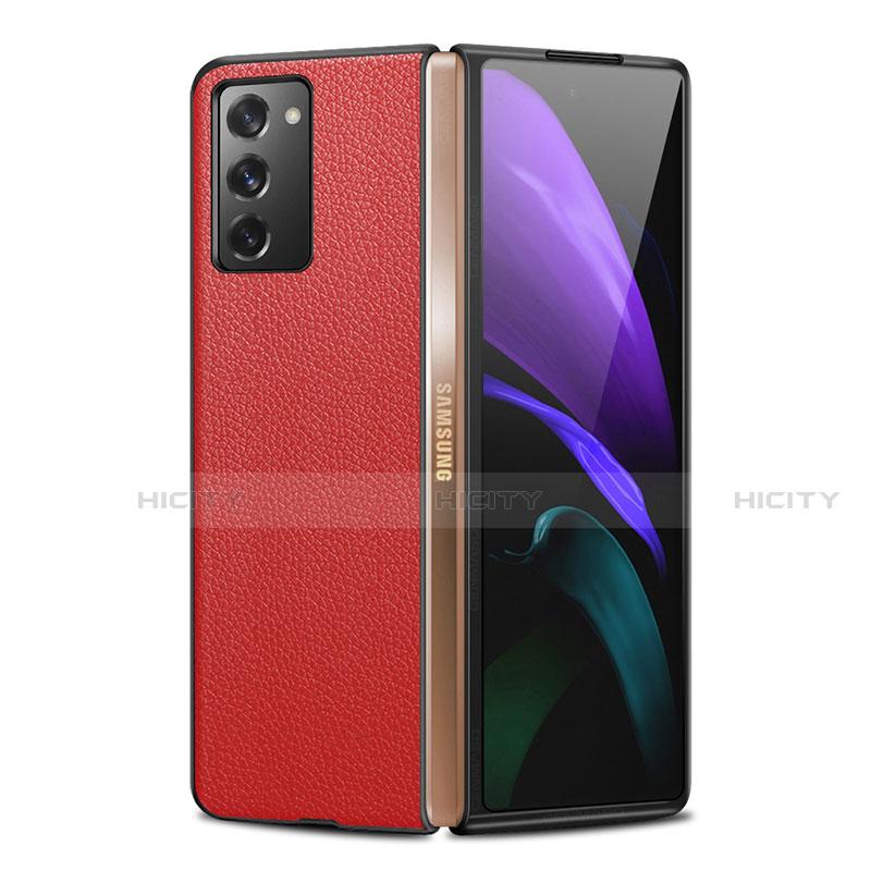 Coque Luxe Cuir Housse Etui pour Samsung Galaxy Z Fold2 5G Plus