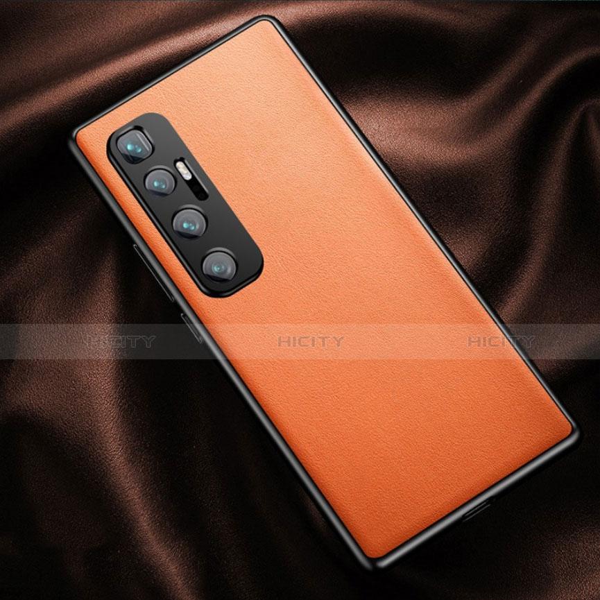 Coque Luxe Cuir Housse Etui pour Xiaomi Mi 10 Ultra Orange Plus