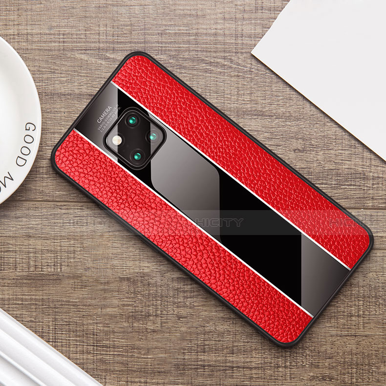 Coque Luxe Cuir Housse Etui S01 pour Huawei Mate 20 Pro Plus