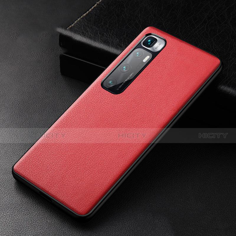 Coque Luxe Cuir Housse Etui S01 pour Xiaomi Mi 10 Ultra Rouge Plus