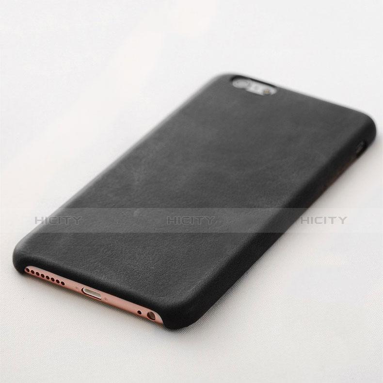 coque luxe cuir housse l02 pour apple iphone 6s plus noir 13117 plus 3