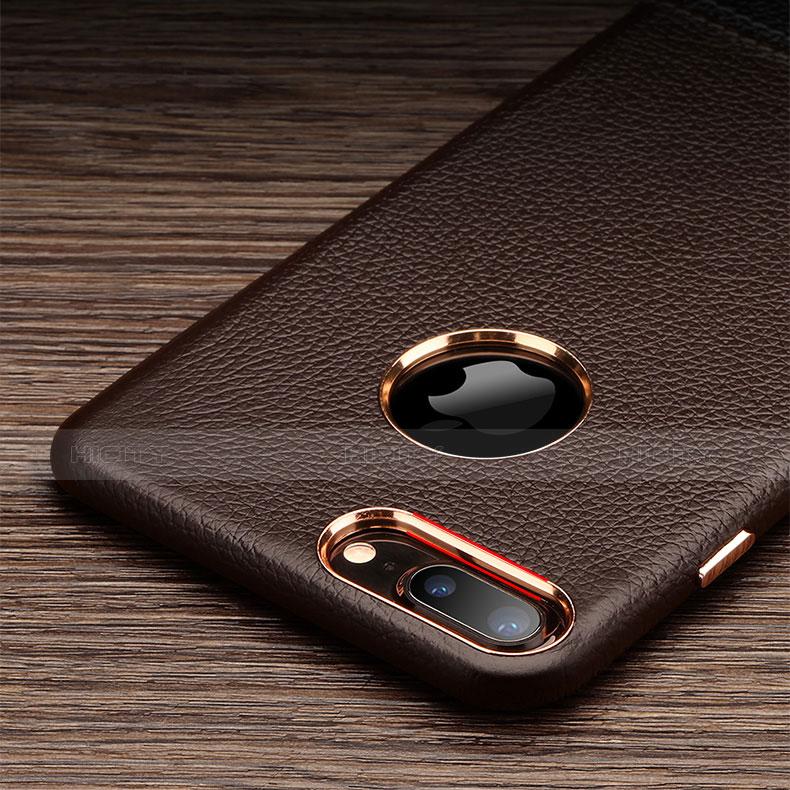 coque luxe cuir housse pour apple iphone 7 plus marron 13440 plus 2
