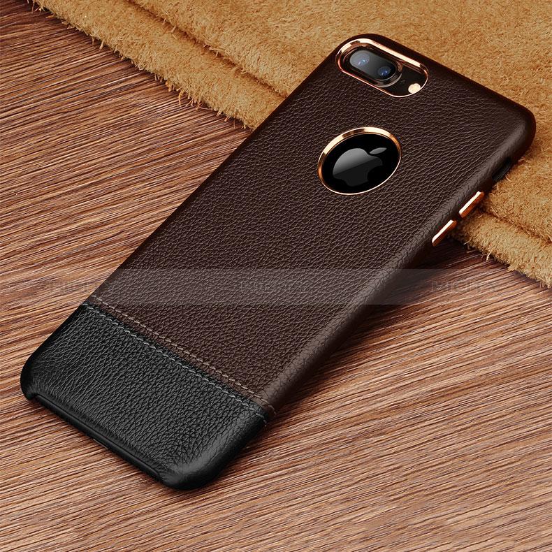 coque luxe cuir housse pour apple iphone 8 plus marron 13639 plus 3