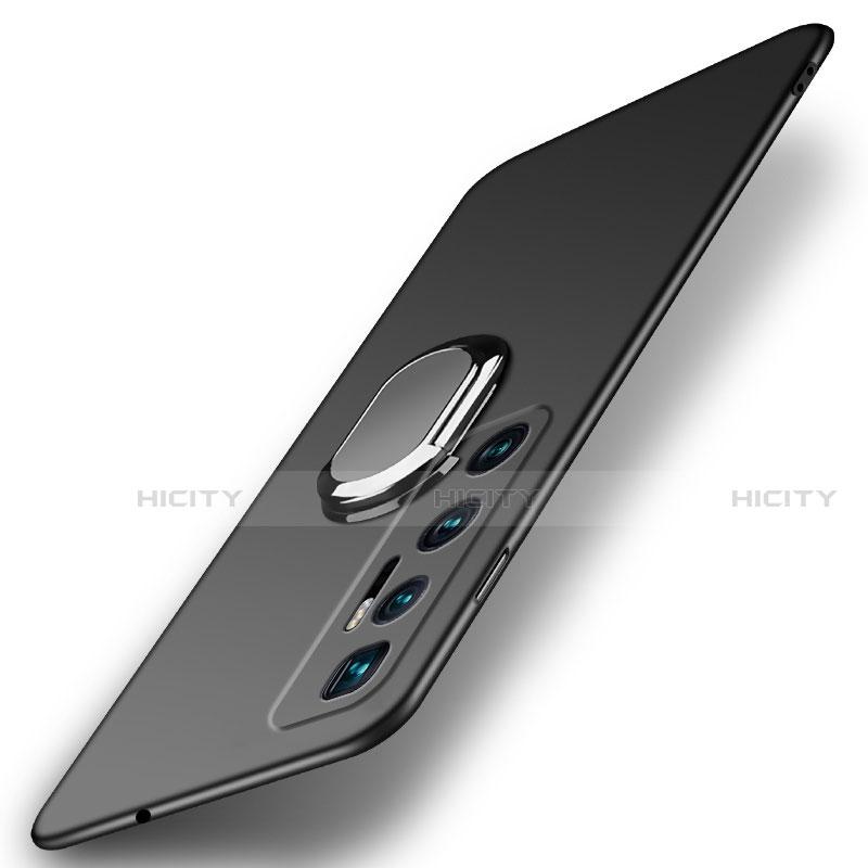Coque Plastique Housse Etui Rigide Mat avec Support Bague Anneau Aimante Magnetique A01 pour Xiaomi Mi 10 Ultra Noir Plus