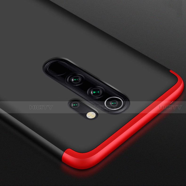Coque Plastique Mat Protection Integrale 360 Degres Avant et Arriere Etui Housse avec Support Bague Anneau pour Xiaomi Redmi Note 8 Pro Plus