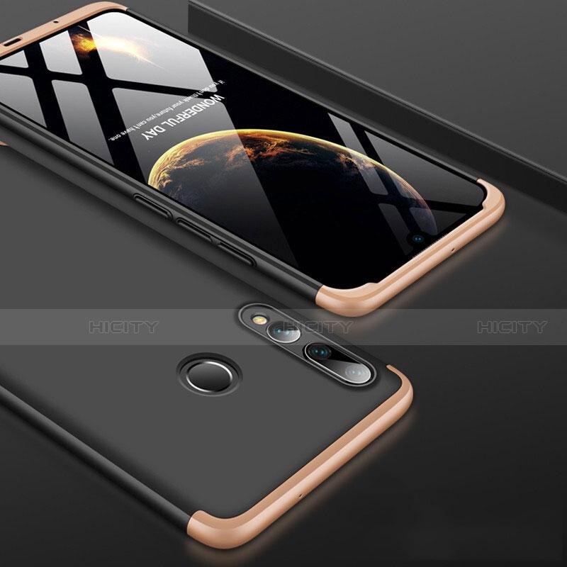 Coque Plastique Mat Protection Integrale 360 Degres Avant et Arriere Etui Housse pour Huawei Honor 20 Lite Or et Noir Plus