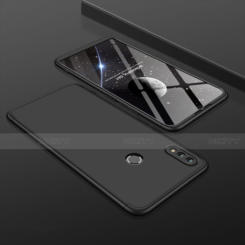 Coque Plastique Mat Protection Integrale 360 Degres Avant et Arriere Etui Housse pour Huawei Honor 8X Noir Plus