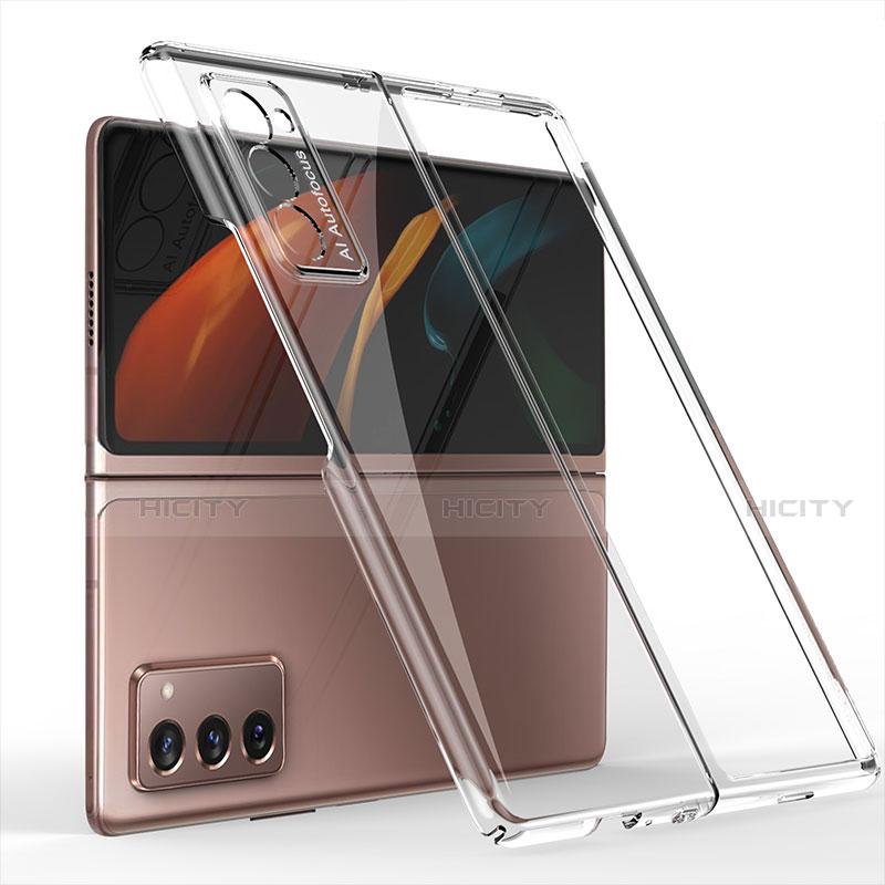 Coque Plastique Mat Protection Integrale 360 Degres Avant et Arriere Etui Housse pour Samsung Galaxy Z Fold2 5G Clair Plus