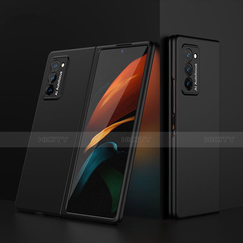Coque Plastique Mat Protection Integrale 360 Degres Avant et Arriere Etui Housse pour Samsung Galaxy Z Fold2 5G Noir Plus