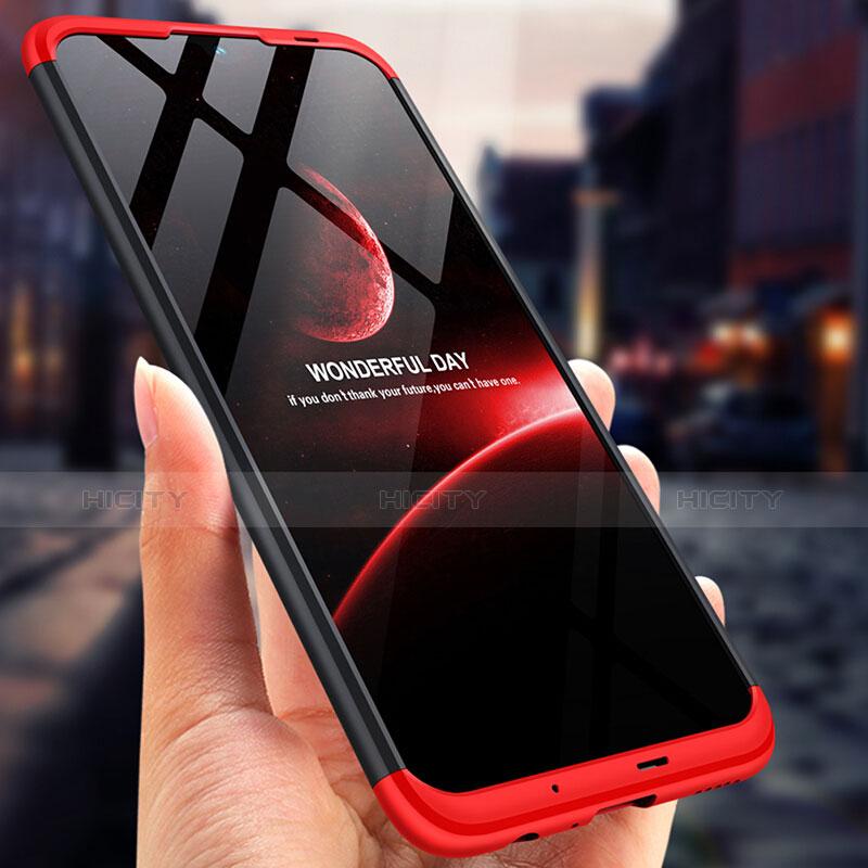 Coque Plastique Mat Protection Integrale 360 Degres Avant et Arriere Q01 pour Huawei P Smart (2019) Rouge et Noir Plus