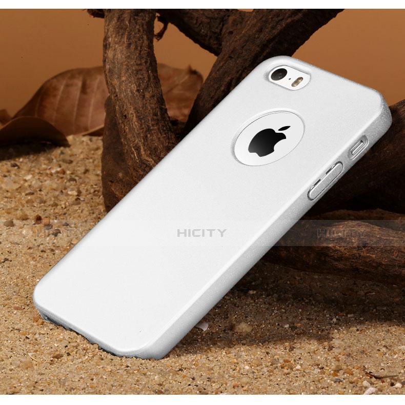 coque plastique rigide avec trou mat pour apple iphone se blanc 6301 plus 3