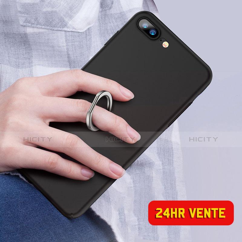 coque plastique rigide mat avec support bague anneau a05 pour apple iphone 7 plus noir 13488 plus 3