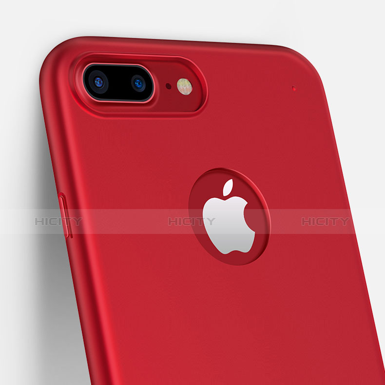 coque plastique rigide mat m11 pour apple iphone 7 plus rouge 13388 plus 4